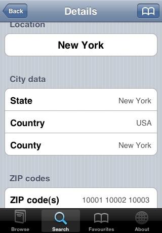 ZIPcodes screenshot-3
