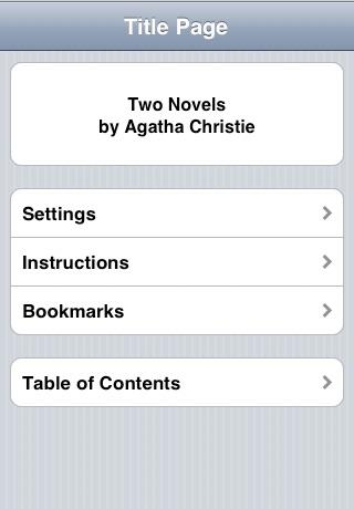 Agatha Christie:  Two Novels