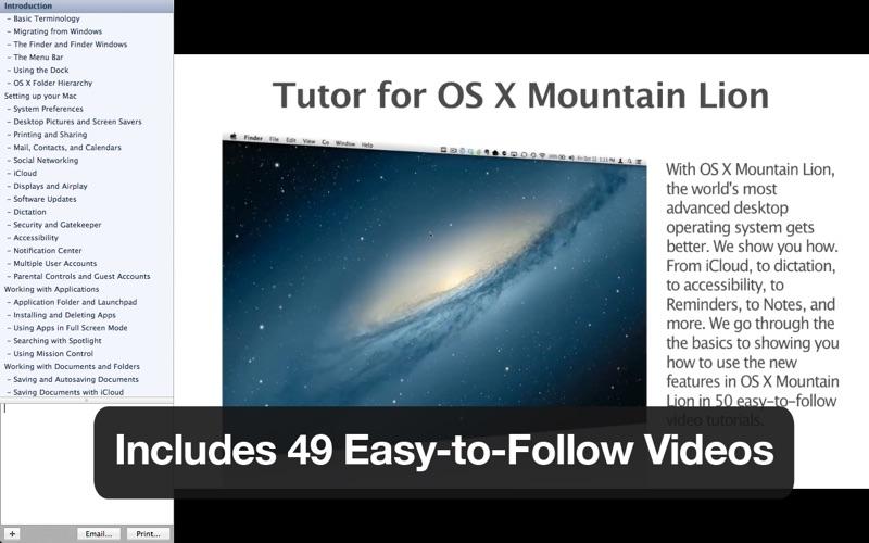 Tutor for OS X Mountain Lion