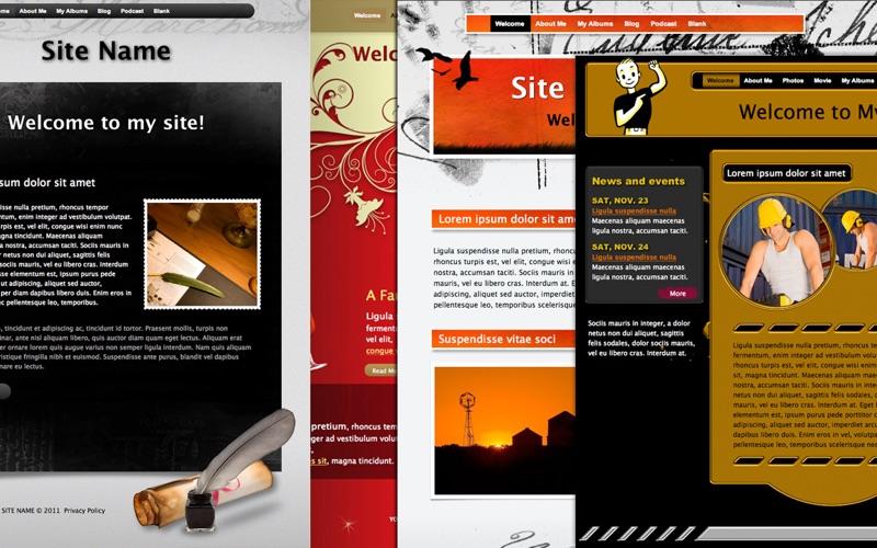 Theme Designs for iWeb скриншот программы 1