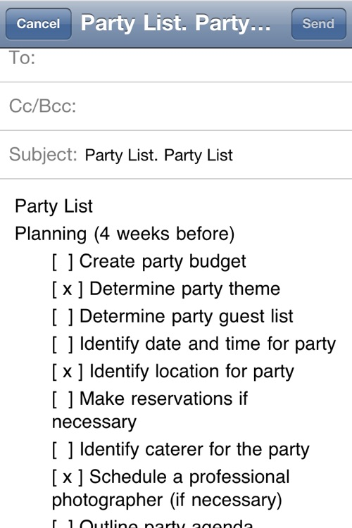 Party Planning List screenshot-4