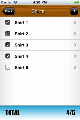 Packing List screenshot-3