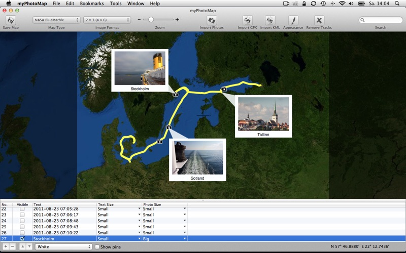 myPhotoMap for Mac