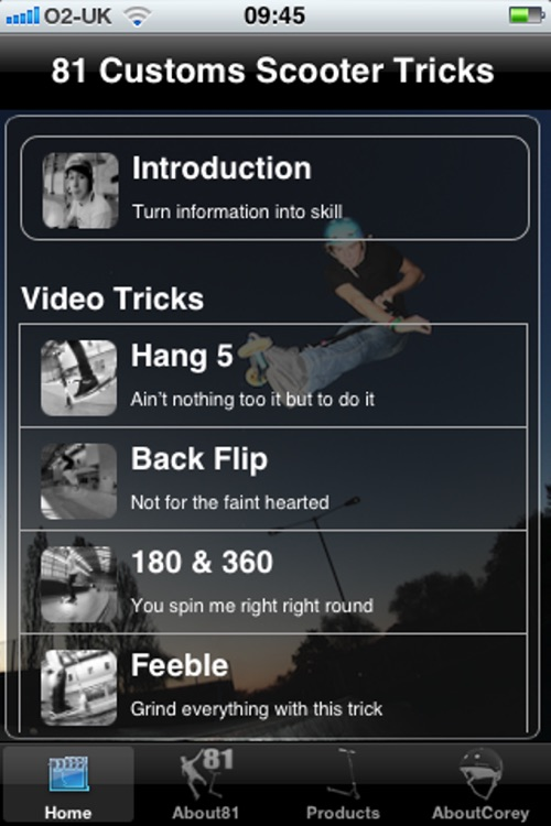 81 Customs Scooter Tricks App