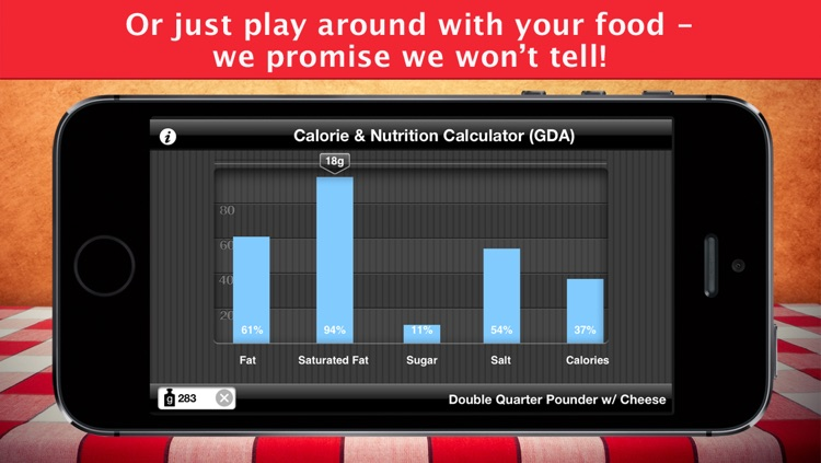 Fast Food Calories Counter & Restaurant Nutrition Menu Finder, Weight Calculator & MealS Tracking Journal screenshot-4