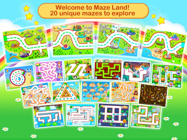 Toddler Maze 123 Free - Fun learning with Children animated puzzle game screenshot-3