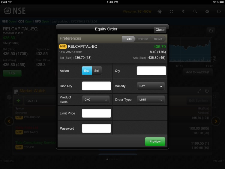 NSE Mobile for iPad screenshot-1