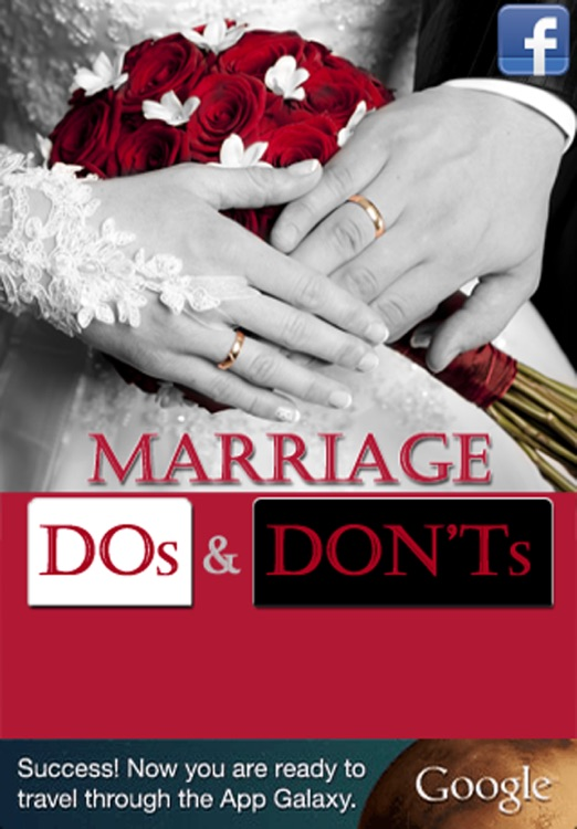 Marriage DOs and Don'ts