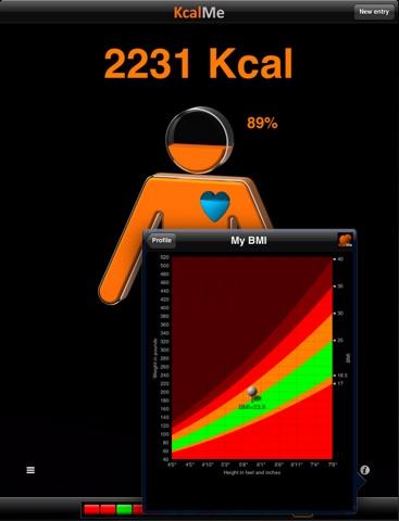KcalMe HD - Slim in 3D - Calorie Tracker Screenshots