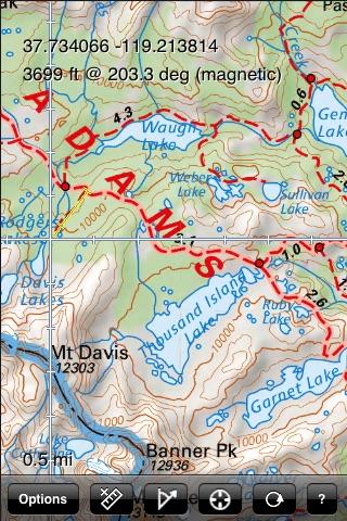 Yosemite National Park Recreation Map