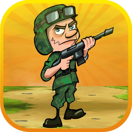 ` Army Soldier Run: Two War Men and Battle of Gold General Island Free