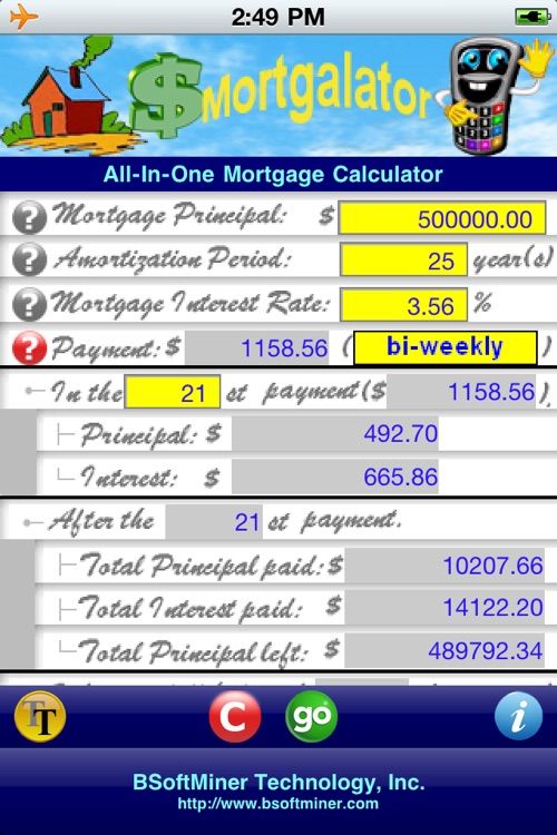 All-in-one mortgage calculator (mortgalator) by bsoftminer.