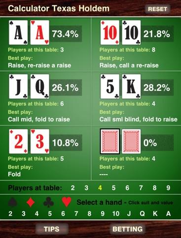 Calculator Texas Holdem Скриншоты6