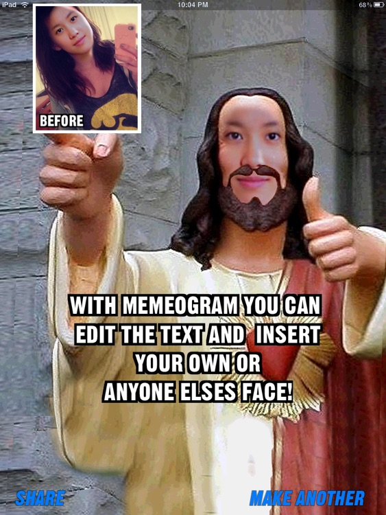 MemeogramHD - Meme Maker With Face Swap And Funny Quotes