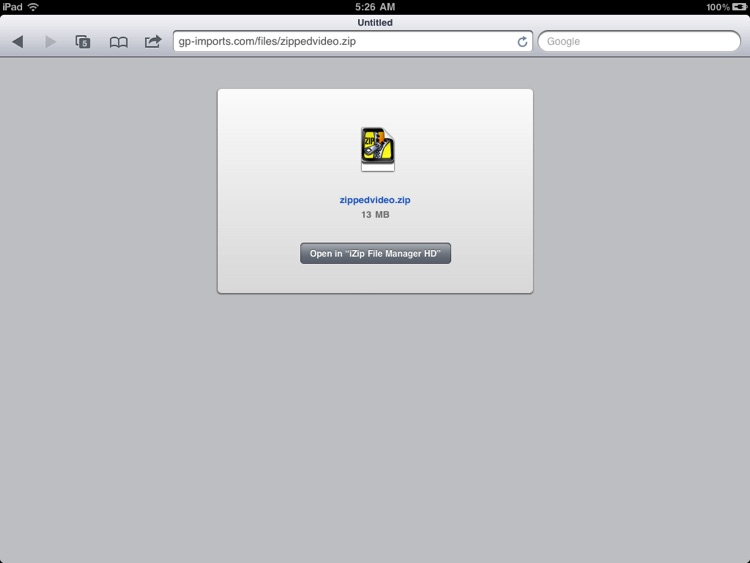 Zip File Manager HD for iPad screenshot-3