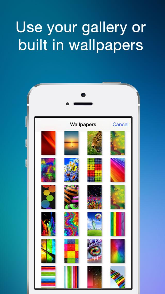 Color Statusbar and dock wallpaper creator with blur screenshot three