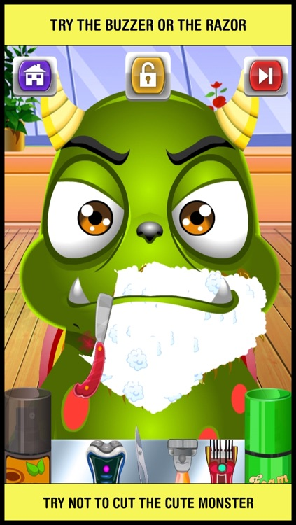 Baby Monster Shave & Makeover Salon - crazy little skin hair doctor shaving spa games for kids