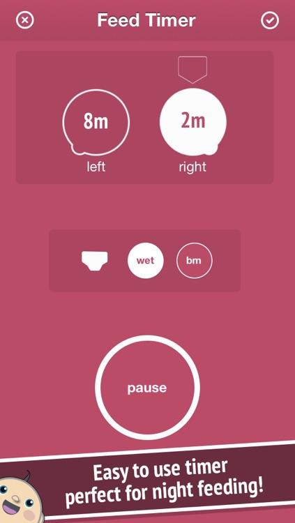 Baby Feed - Feeding timer to track & log nursing & breastfeeding