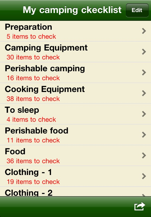 Camping checklist screenshot-1