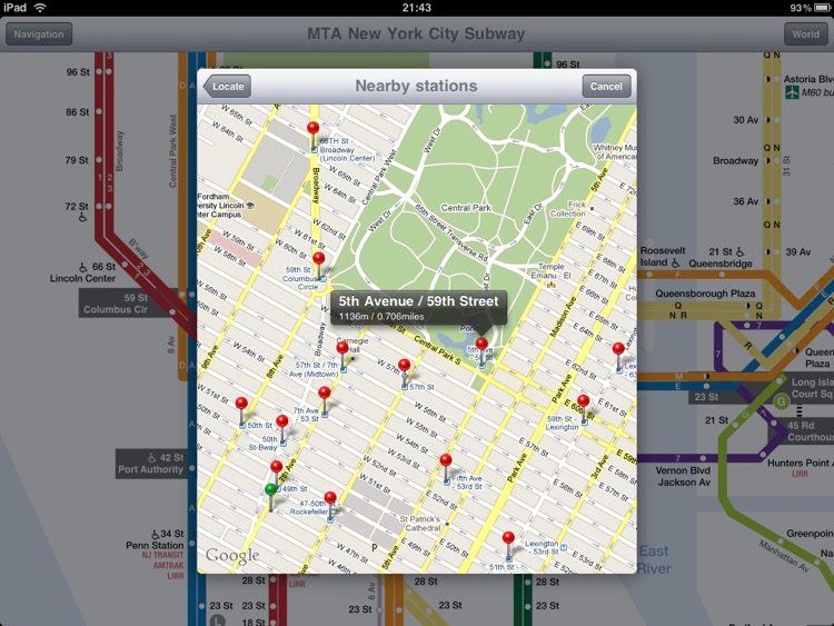 New York Subway for iPad screenshot-4