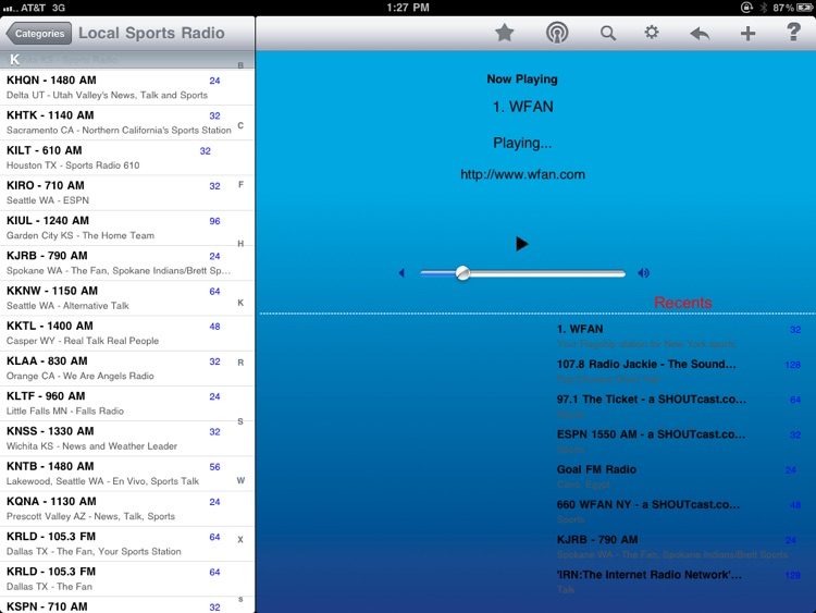 Sports Radio - iPad Edition