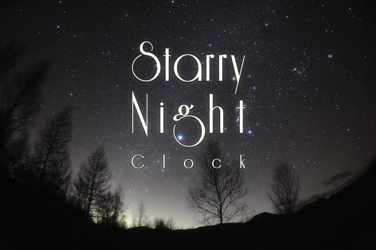 STARRY NIGHT CLOCK screenshot-0