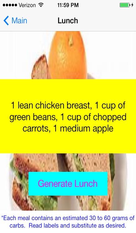 Diabetic Meal Planner