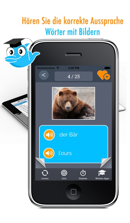 Learn German and French: Memorize Words - Free screenshot-0