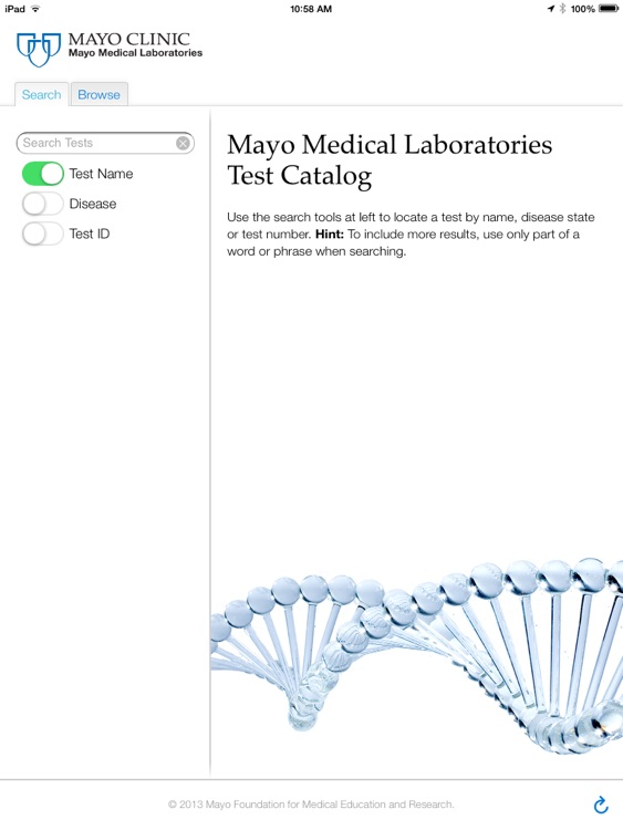 Lab Catalog for iPad