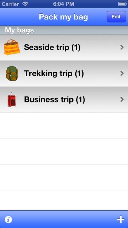 Pack My Bag - your trip companion screenshot-4