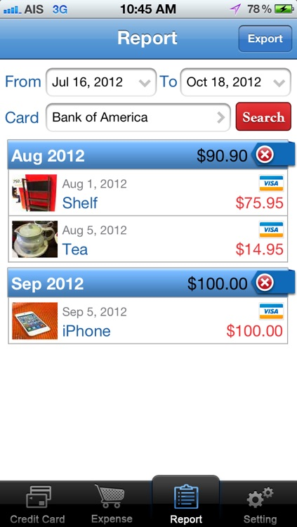 CreditCard Expense screenshot-3