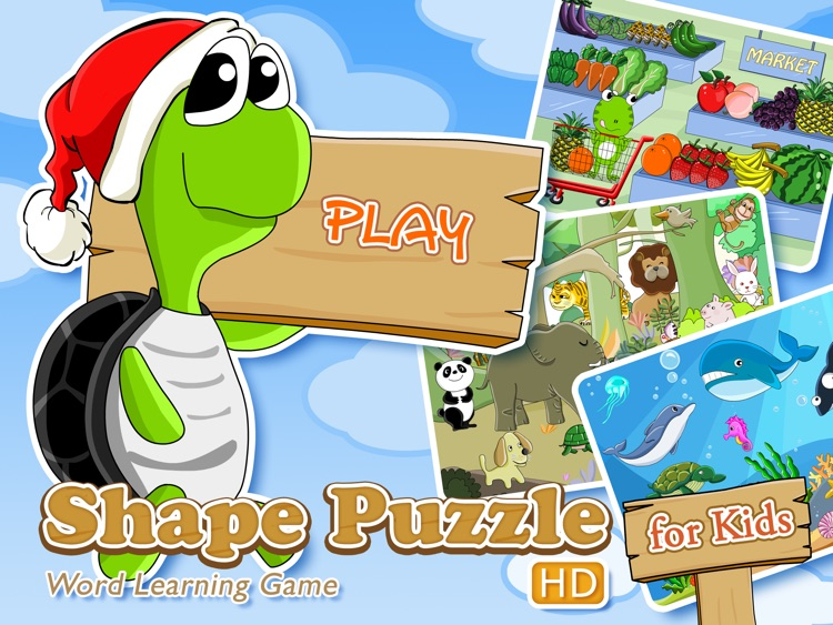Shape Puzzle HD - Word Learning Game for Kids
