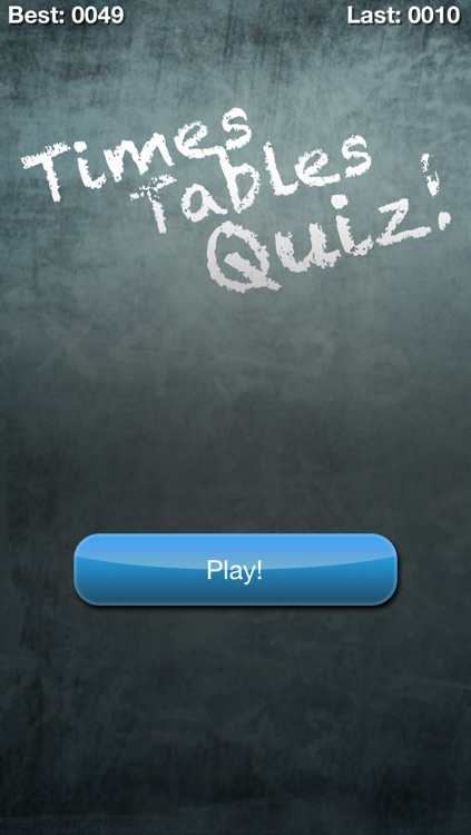 Times Tables Quiz! (Multiplication Trainer)