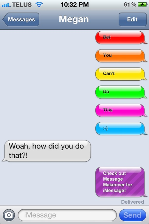 Message Makeover for iMessage - Colorful iMessage Bubbles