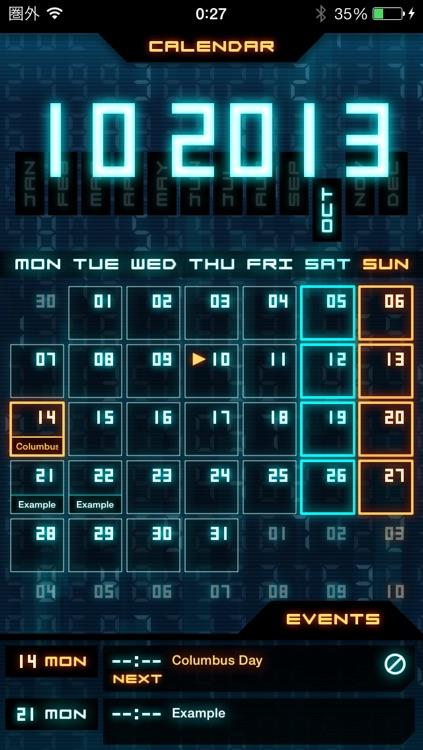 Flashback - Sci-Fi Style Calendar