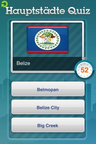 Hauptstädte Quiz FreeScreenshot von 2