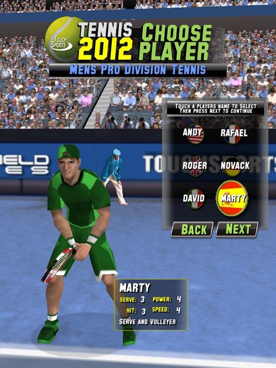 TouchSports Tennis 2012 HD screenshot-3