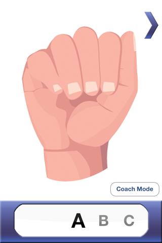 ASL Coach  - 'American Sign Language' screenshot one