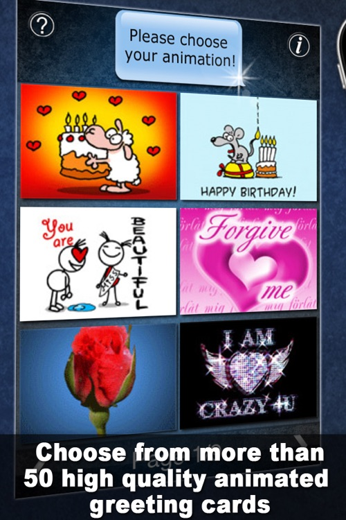 Greeting Cards and Emoticons for iMessage, MMS and Email