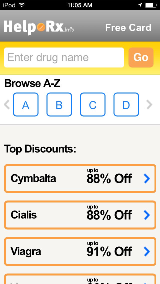 点击获取HelpRx Mobile Prescription Discounts