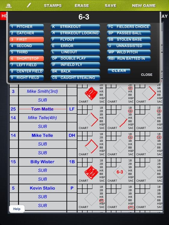 Baseball Scorebook screenshot-3