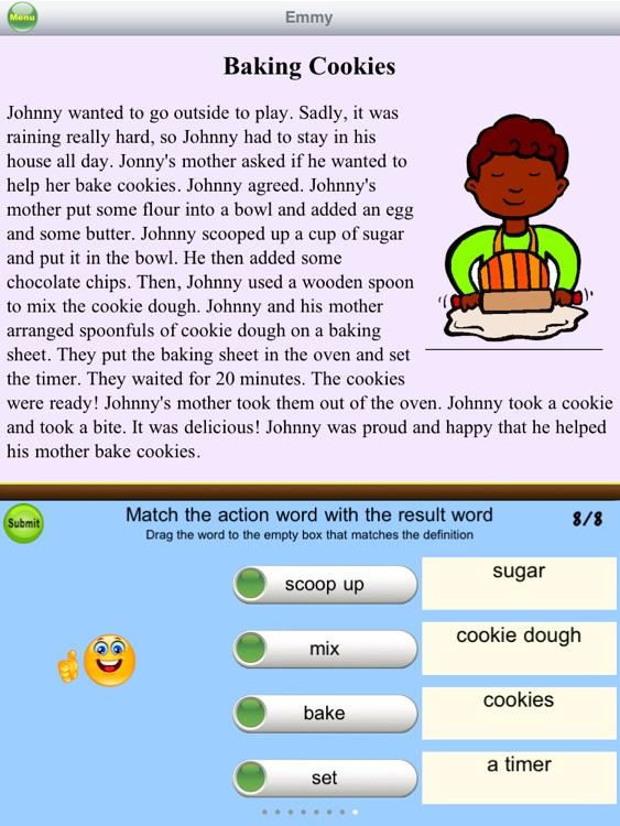 AbiTalk Second Grade Reading Comprehension Fiction Free screenshot-3