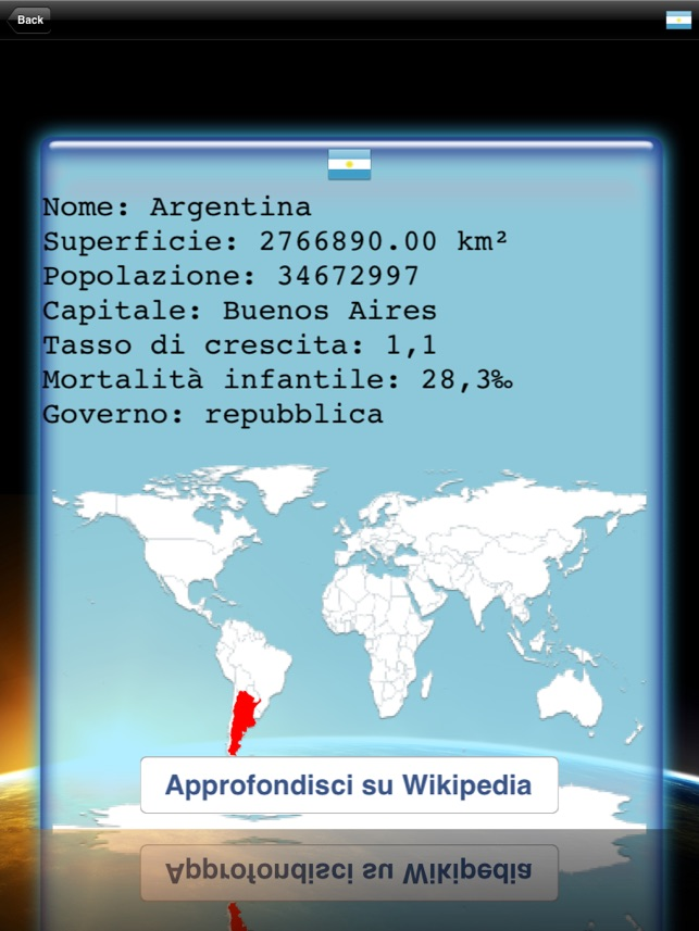 Mappamondo Screenshot