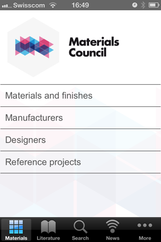 Materials Council screenshot one