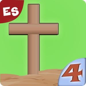 La vida de Jesús: La Cruz- Historia bíblica, colorear, cantar, y rompecabezas para niños