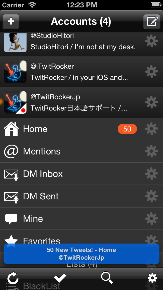 Screenshot #1 pour TwitRocker2 Lite for iPhone - la prochaine génération de client twitter