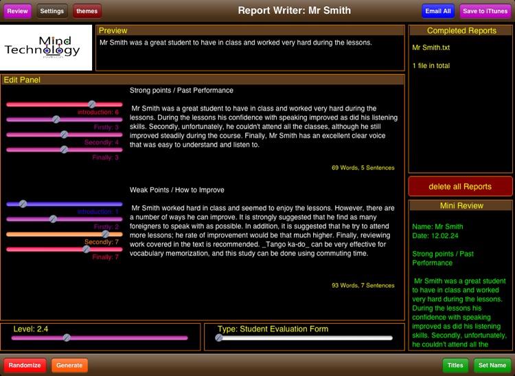 Student Report Writer screenshot-3