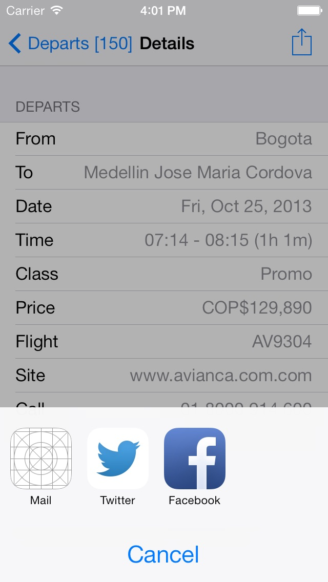 Colombia Flight FREE Screenshot
