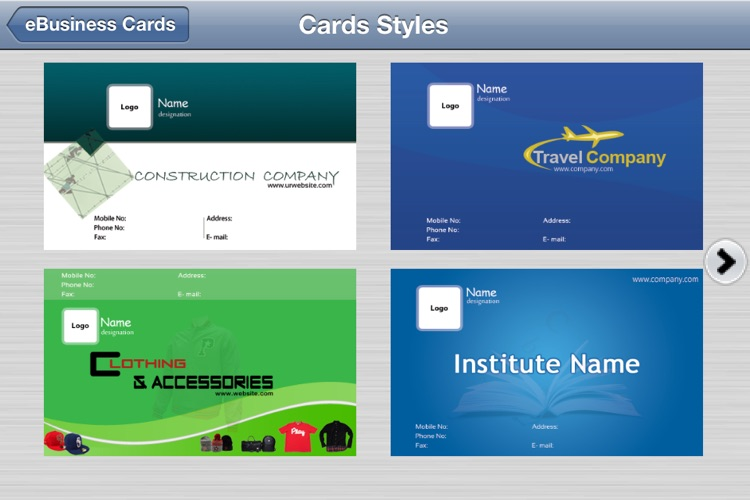 e-Business Cards Maker-Full screenshot-4