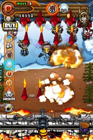 Ninja Chicken 2:shoot'em up Screenshot